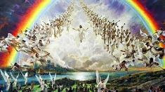 Jesus Second Coming, He Is Coming, Religious Pictures, Jesus Pictures, Heaven Pictures, Hopi Prophecy, Image Jesus, Resurrection Of The Dead, Heaven Art