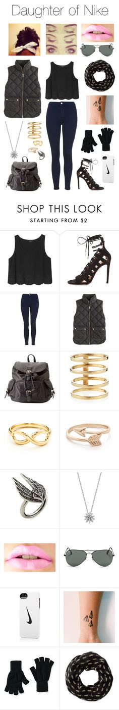 """""""Daughter of Nike"""" by kitty3136 ❤ liked on Polyvore featuring Monki, Aquazzura, Topshop, J.Crew, Charlotte Russe, Lana, Tiffany & Co., Lulu Frost, London Road and Ray-Ban"""