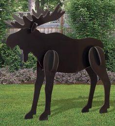 All-Weather Large Black Moose Yard Display