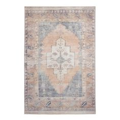 Featuring a Persian-style design in blush and blue tones with peach and sage-green accents, our exclusive Chelsea area rug is a soft-hued achievement. 8x10 Area Rugs, Large Area Rugs, Blue Area Rugs, World Market Rug, Rug World, Affordable Area Rugs, Affordable Home Decor, Green Accents, Rug Sale