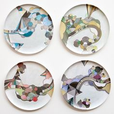 Poketo The Middletons Plate Set from Poketo. Shop more products from Poketo on Wanelo. Painted Plates, Ceramic Plates, Plates On Wall, Ceramic Pottery, Decorative Plates, Hand Painted, Plate Wall, Pottery Painting, Ceramic Painting