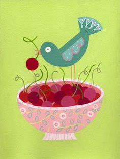bird & cherries by Linda Solovic©..that's me