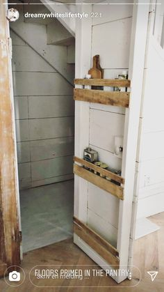 Ladder Decor, Pantry, Shelves, Flooring, Home Decor, Shelving, Homemade Home Decor, Butler Pantry, Shelf