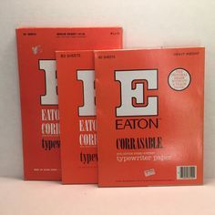Eatons Corrasable Typewriter Paper Lot 8.5 x 11 Medium & Heavy Weight & 8.5 x 13