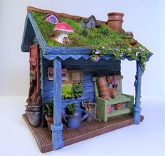Fairy Shed | Fairy Garden Shed | Fairy Garden Accessories | Miniature Garden Shed This gorgeous miniature shed will be an enchanting centrepiece of your fairy garden. It delight fairy fans and gardeners of all ages. Beautifully decorated with so many tiny intricate features to enjoy.