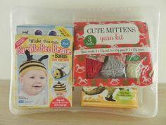Lets Knit Kits x 4 (bumble bee, Princess Fifi, Freddie Dino & cute mittens)