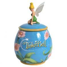 Tinker Bell Flowers Cookie Jar