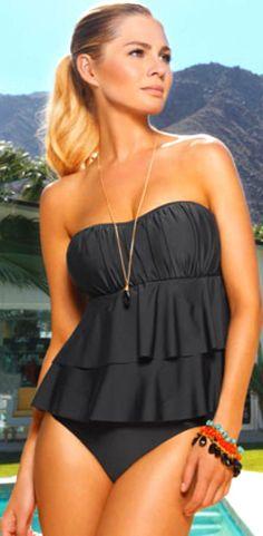 e0cfa60489 Beautiful swimsuits and bikinis Bandeau Tankini