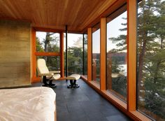 Cliff House by Altius Architecture. Slate floors.