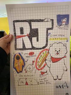 He adorable cuteness 🥰 App Drawings, Cute Drawings, Art Sketches, Kpop Diy, Journal Aesthetic, Bts And Exo, Line Friends, Bts Chibi, I Love Bts