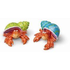 Nautical Hermit Crab Mates Salt and Pepper Shaker