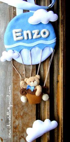 porta d maternidade urso tecido e/ou feltro - Pesquisa Google