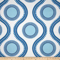 Premier Prints Susette Cobalt Fabric By The Yard