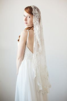 Just like my grandmother's veil, which her sister and both my sister and I also wore on our wedding days