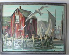 paint by number pbn boat on Etsy, a global handmade and vintage marketplace.
