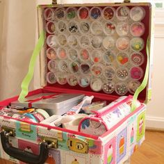 How to Line a Suitcase | Vintage suitcases, Vintage and Craft