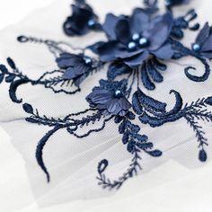 Lace applique, bridal applique trim, flower beaded lace, applique for veils wedding dress dance costumes Wedding Dress With Veil, Wedding Veils, Bridal Veils, Beaded Lace, Beaded Flowers, Lace Jewelry, Wedding Hair Flowers, Romantic Lace, Lace Applique