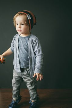 Live Life Anchored Cardigan in Grey - The Printed Palette - Boys' Clothing - Children - Products