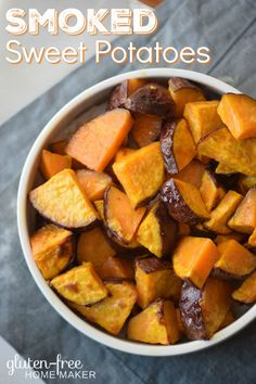 You can use a smoker or your oven to make these simple and delicious Smoked Sweet Potatoes. With only four ingredients, it's an easy recipe.