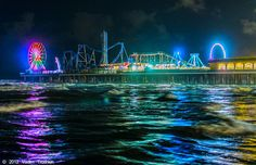 Situated over the Gulf of Mexico, many rides create the exciting sensation of being suspended above the water.
