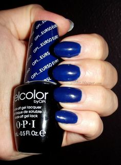 """OPI Gelcolor gel polish in """"Eurso Euro"""".  All I can say is: OMG BLUE.  A better write up/swatches are at http://gel-luv.blogspot.com"""