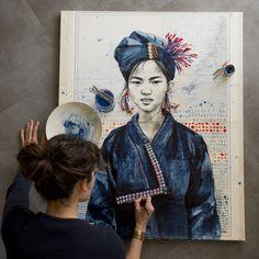 Voici la seconde toile inspirée par l'ethnie Ann, que je destine à l'exposition de Cordes-sur-Ciel dans le Tarn.   J'avais encore envie d'i...