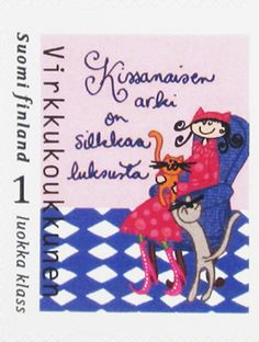 Postage Stamps, Finland, My Favorite Things, Pets, Books, Animals, Fictional Characters, Design, Door Bells