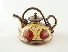ceramic teapot pottery tea pots teapot ceramic art by Avanturine