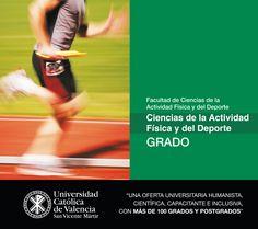 #Grado en #Ciencias de la #Actividad #Física y del #Deporte de la #UCV #CompromisoUCV #CAFD #TuGradoUCV
