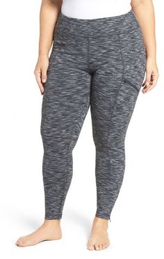 Zella 'Uptown Remix' Jacquard Ankle Leggings (Plus Size) *** You can get additional details at the image link.