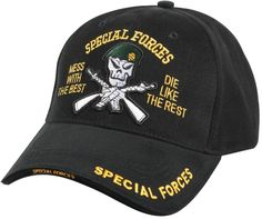 Special Forces Cap Black - Deluxe Low Profile Insignia Hat 46d2831f54d