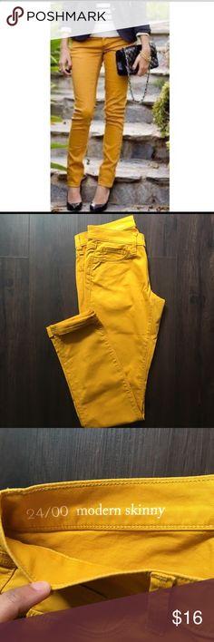 HOST PICK! NEW Loft Modern Skinny Jeans Mustard yellow skinny jeans, never worn! LOFT Jeans Skinny