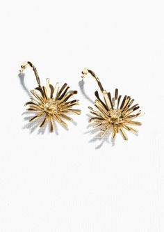 & Other Stories Flower Bomb Earrings in Gold