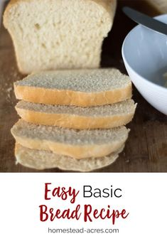 You will love this quick and easy bread recipe! It's perfect for sandwiches, rolls, and buns. It's been my go-to recipe for making bread fast for many years now. Basic White Bread Recipe, Homemade White Bread, Easy Bread Recipes, Fun Easy Recipes, Easy Meals, Bread Dough Recipe, How To Make Bread, Bread Making, Side Dishes Easy