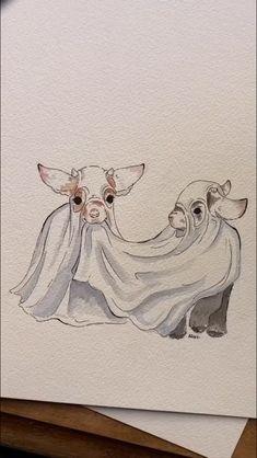 Art Drawings Sketches Simple, Cute Drawings, Arte Sketchbook, Hippie Art, Cartoon Art Styles, Aesthetic Art, Animal Drawings, Cute Art, Painting & Drawing