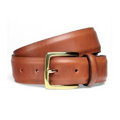 Cheaney Dark Leaf Belt with Gold Buckle