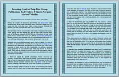 Investing Guide at Deep Blue Group Publications LLC Tokyo: 3 Tips to Navigate Market Volatility