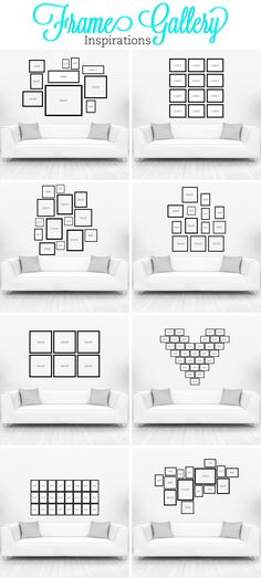 Each #gallery will work great on a Dark or Light wall and for the bright #colorful walls try using all black and white photos, it will bring out the contrast in both the photos and the wall.