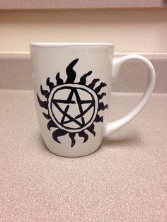 Perfect for a Supernatural fan! Get one at https://www.etsy.com/shop/GabbysMugs?ref=pr_shop_more