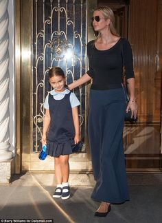 Mommy-daughter time: Ivanka Trump took her five-year-old daughter Arabella to school on Th...