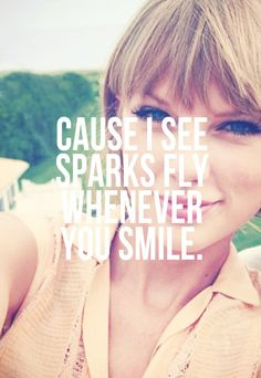 Quotes About Love For Him : Sparks Fly