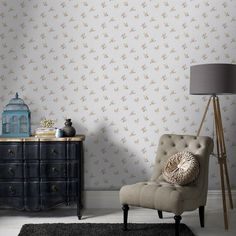 Rosebud Floral Wallpaper - Yellow Flower Wall Coverings by Graham  Brown