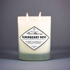 Ripe elderberry, classic rose and a touch if anise ....................................................................................... - hand made in Virginia in small batches - premium soy wax bl