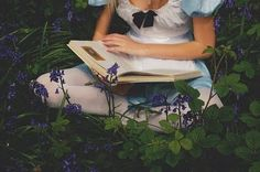blue, book, fairytale
