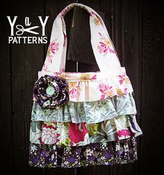 PDF Sewing Pattern Ruffles and Rosettes Handbag by yardsandyards, $7.00