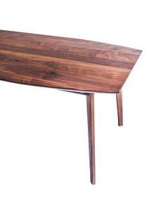 Custom Made The Santa Monica: Solid Black Walnut Dining Table, Mid Century Modern  $1693