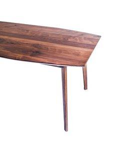 Custom Made The Santa Monica: Solid Black Walnut Dining Table, Mid Century Modern