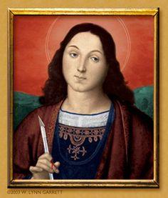 Saint Exacto of Tirol, from W. Lynn Garrett's series 'The Patron Saints of Graphic Design'. http://www.lynnster.com/exacto.html