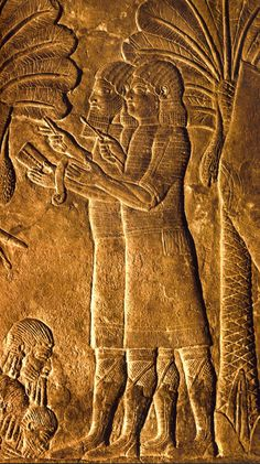 Iraq Ninive Rilievo Assiro del palazzo del Re Sannacherib