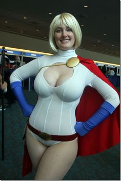 Power Girl...she certainly has the breasts to pull off PG's look.